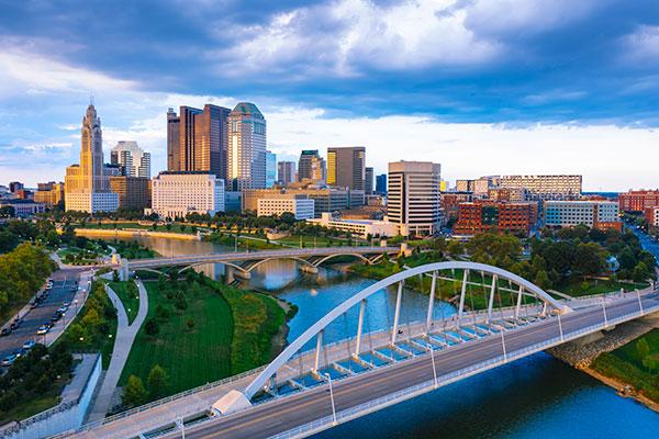 Perez Morris Columbus, Ohio, picture showing Columbus skyline