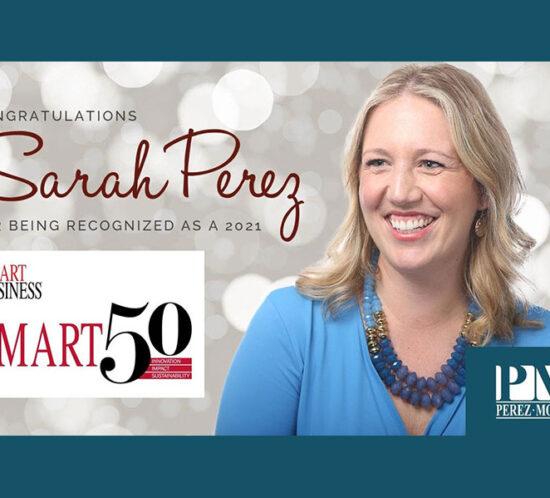Sarah Perez Smart 50 Honoree graphic