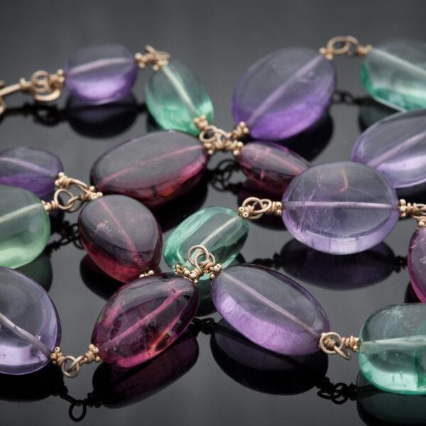 Necklace-Link-Gemstone-14k