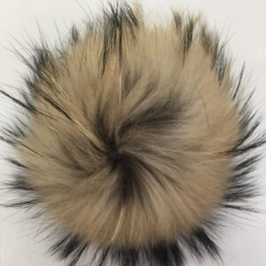 REAL FUR POM HAT TOPPERS