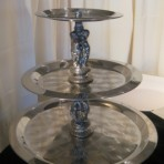 Round Display Tray, 3 Tier