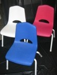 Children Resin Chairs, White, Pink, and Blue