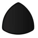 Triangle Plate, Black