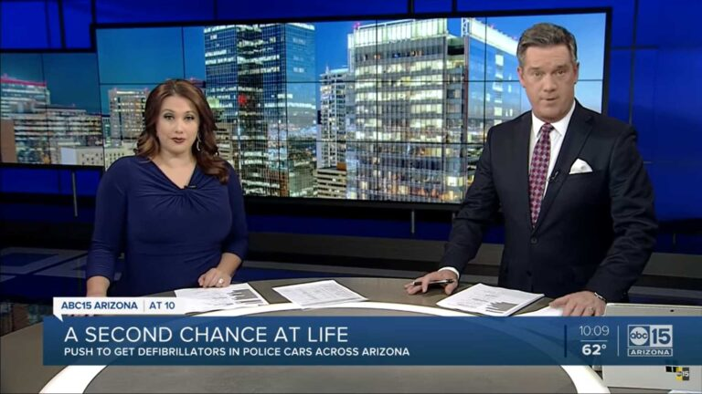 ABC15 POLICE OFFICER WORKING TO EQUIP EVERY OFFICER WITH AED 2020