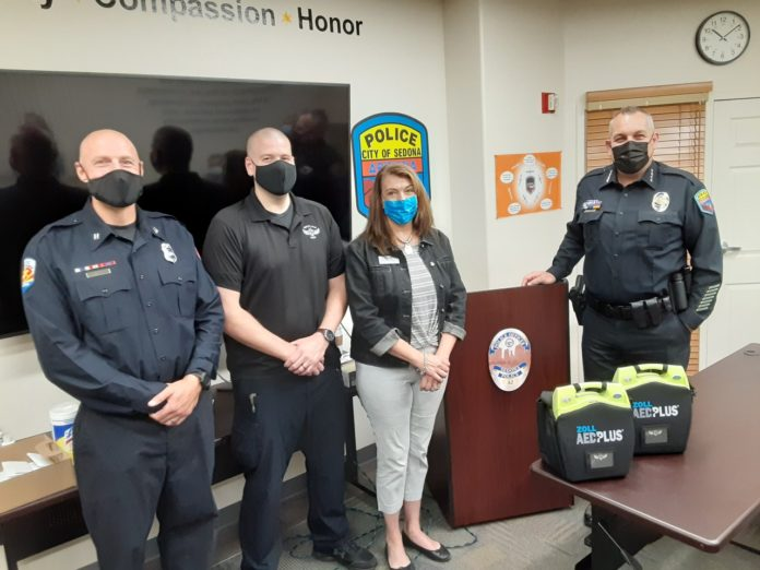 Sedona Police AED Donation Article