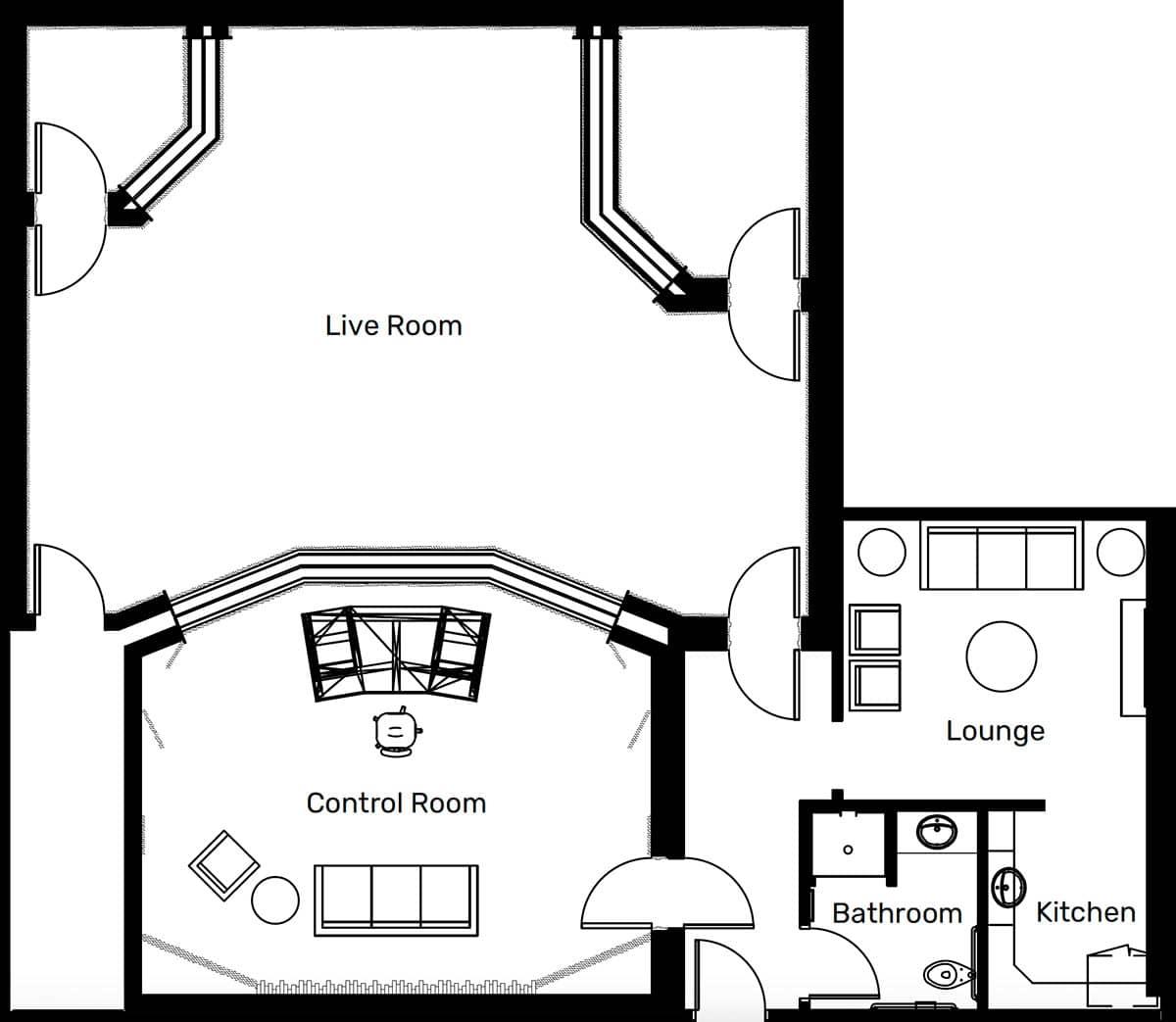Studio-B floor plan