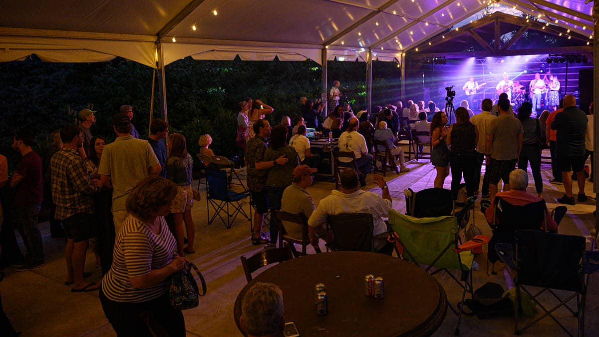 Stages Music Arts outdoor patio
