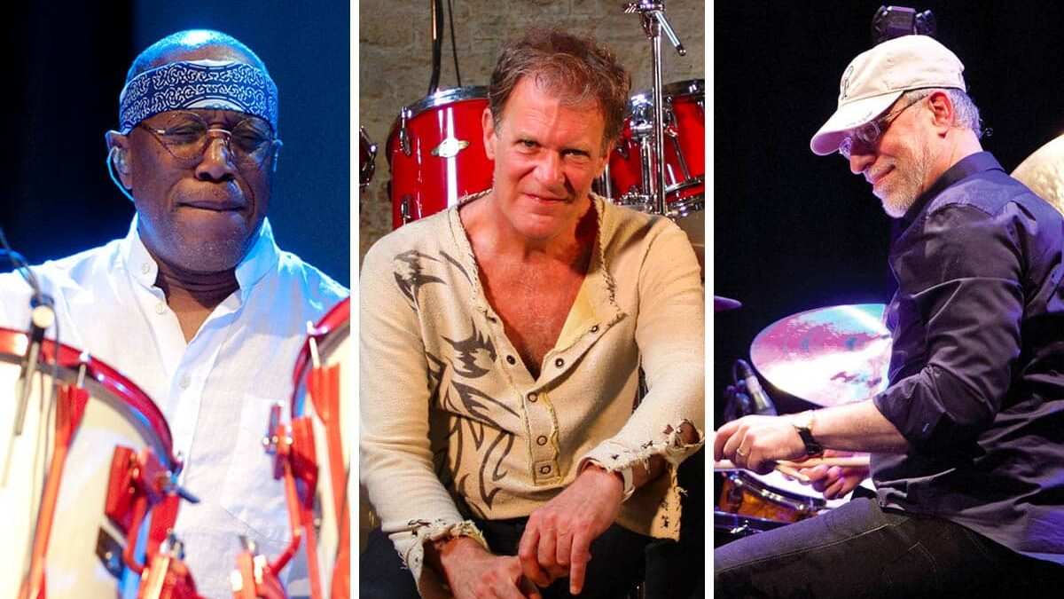 Bill Cobham, Gary Husband, and Dom Famularo