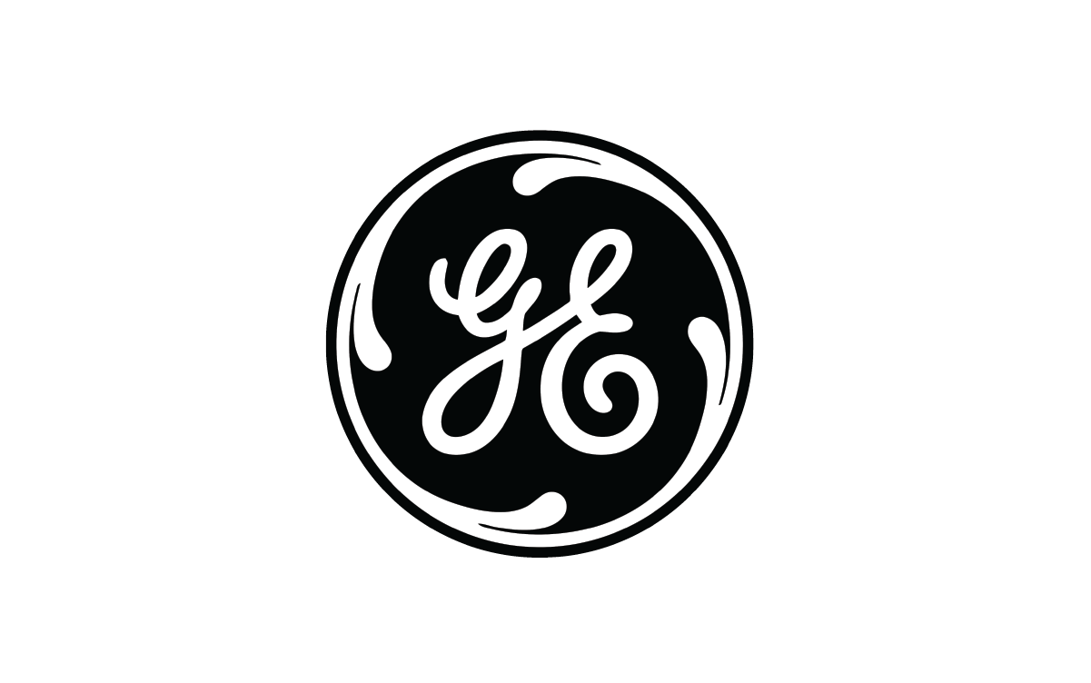 GE or General Electric logo, a former client