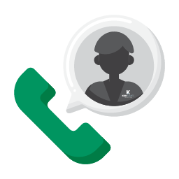illustration representing a rep making a call