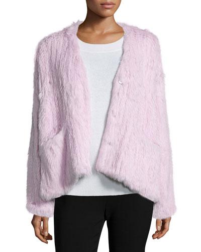 BG Elizabeth and James Bianca Long-Sleever Fur Jacket
