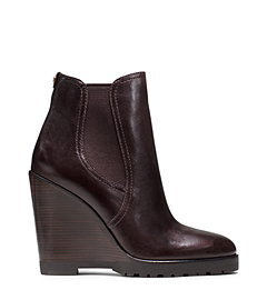 Michael Kors Thea Wedge Leather Boot