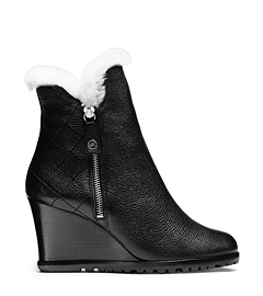 Michael Kors Whitaker Leather Wedge Boot