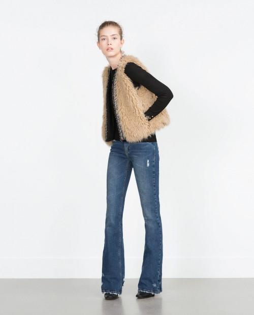 Zara Furry Waistcoat