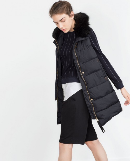 Zara Waistcoat with Faux Fur Collar