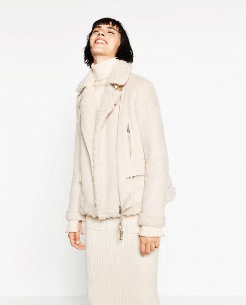 Zara Suede Effect and Fleecy Jacket