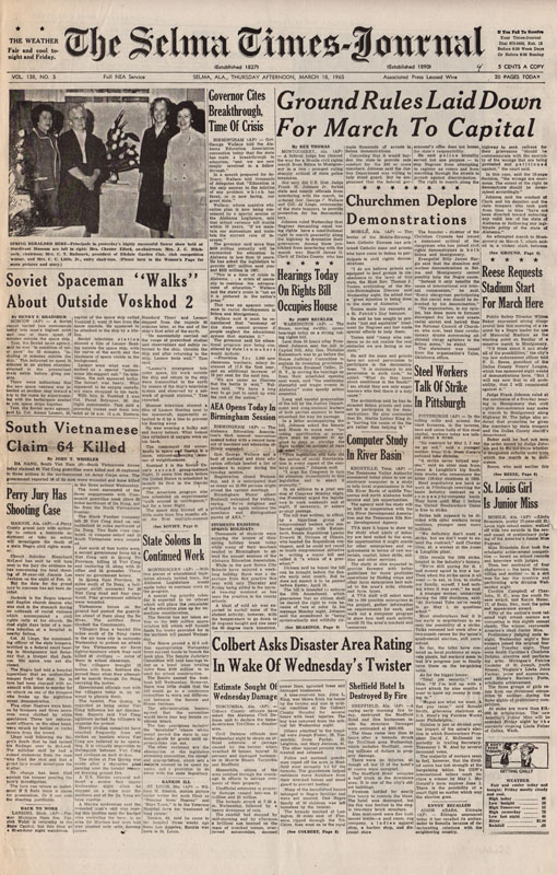 Selma Times, March 18, l965 Cover Pg copy