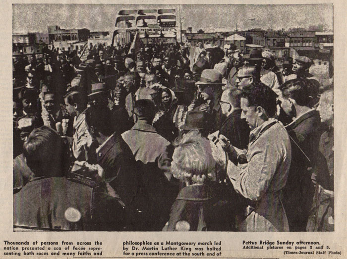 Selma Times, March 22, 1965, Photo, Cover Page copy