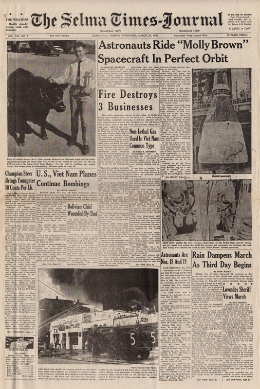 Selma Times, March 23, 1965 Cover Pg copy