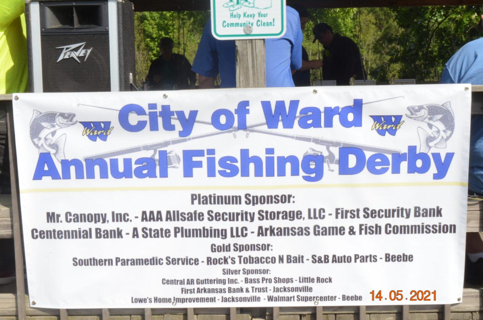 Fishing Derby Sponser Banner
