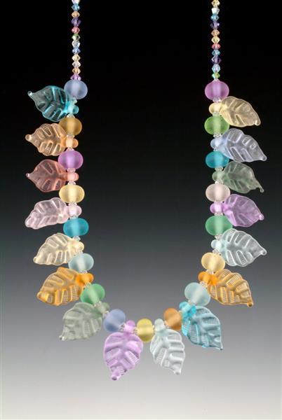 Pastel Leaf Necklace