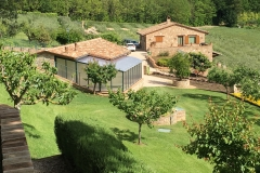Technical building, greenhouse and guest house