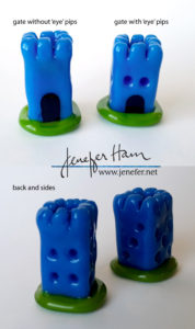 dice tower markers by Jenefer Ham