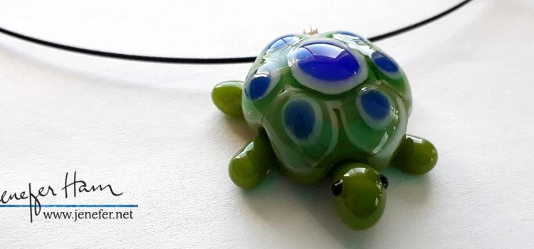 turtle necklace by Jenefer Ham