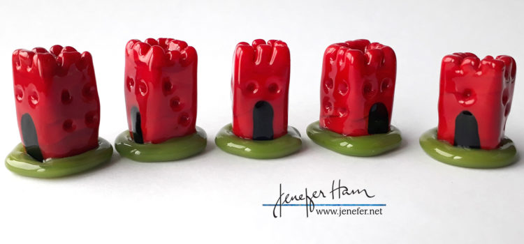 dice tower player markers by Jenefer Ham