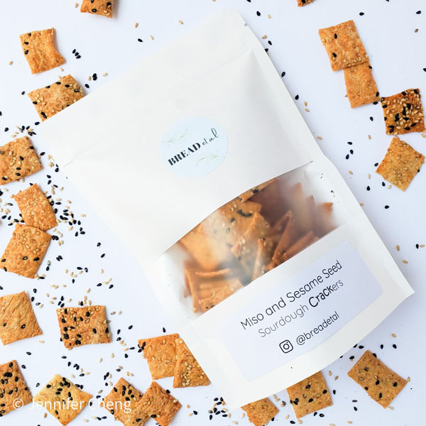 miso sesame crackers