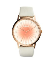White and pink Fossil watch at Belk