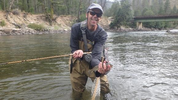 A happy angler.