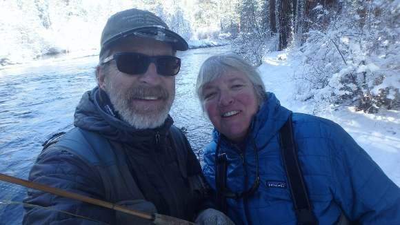 Fly Fishing the Metolius River on Christmas Day.