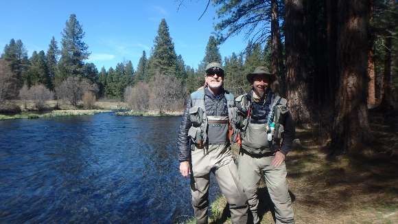 Tony and I on the Metolius River.