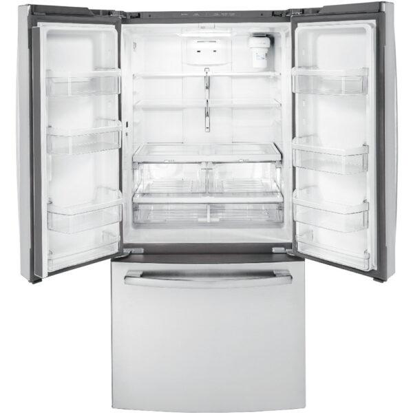 GE 18.6 Cu. Ft. Counter-Depth French-Door Refrigerator Stainless Steel - GWE19JSLSS