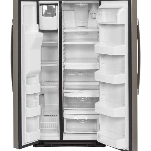 GE 23.2 Cu. Ft. Side-By-Side Refrigerator Slate - GSS23GMKES