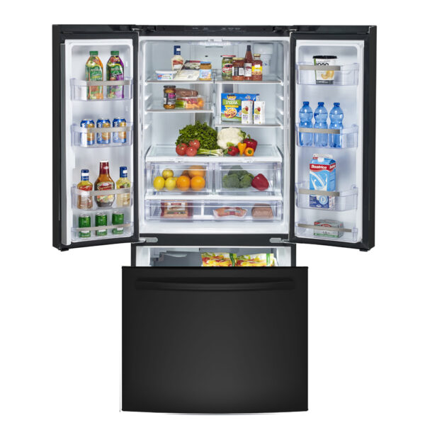 GE Profile 24.5 Cu. Ft. Energy Star French Door Refrigerator with Factory Installed Icemaker Black - PNE25NGLKBB
