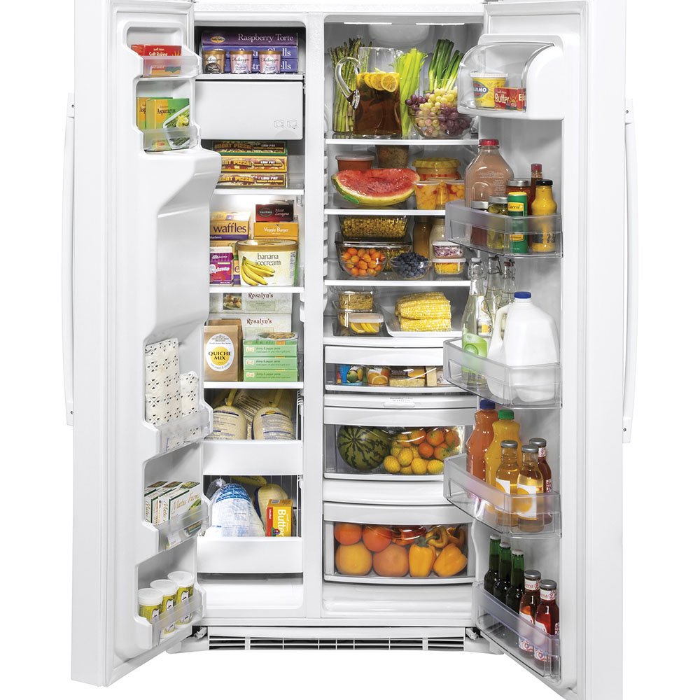 GE 25.1 Cu. Ft. Side-By-Side Refrigerator White - GSS25IGNWW