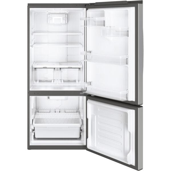 GE 20.9 cu.ft. Bottom Freezer Refrigerator Stainless Steel GBE21ASKSS
