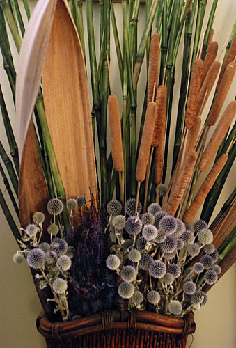 A beautiful home has many thoughtful layers. A wonderful dried arrangement can be one of many small details of a greater whole