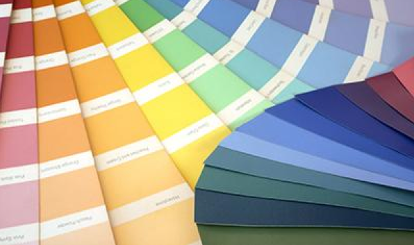paint chips showing countless paint color options