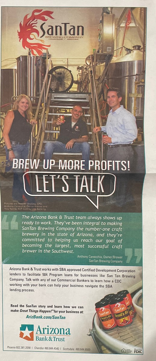AZ Bank and Trust with San Tan Brewery
