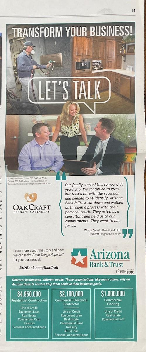 AZ Bank with Oak Craft
