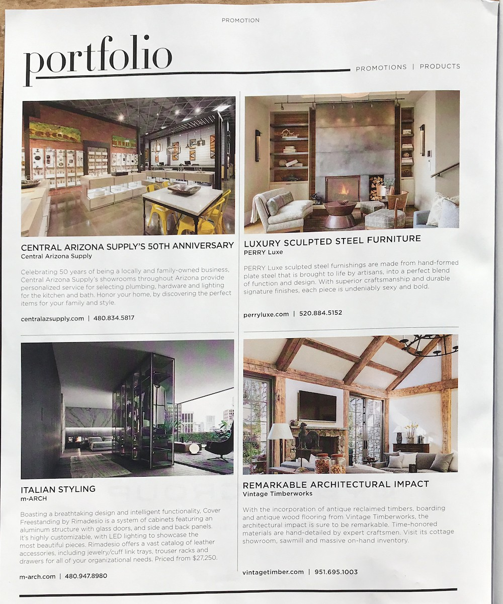 Central AZ Supply Ad in Luxe May 2018