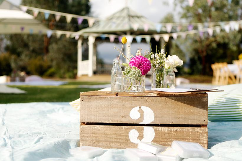 Outdoor Picnic Themed Wedding
