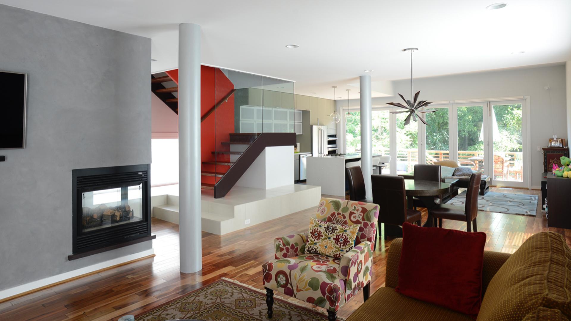 contemporary design build addition