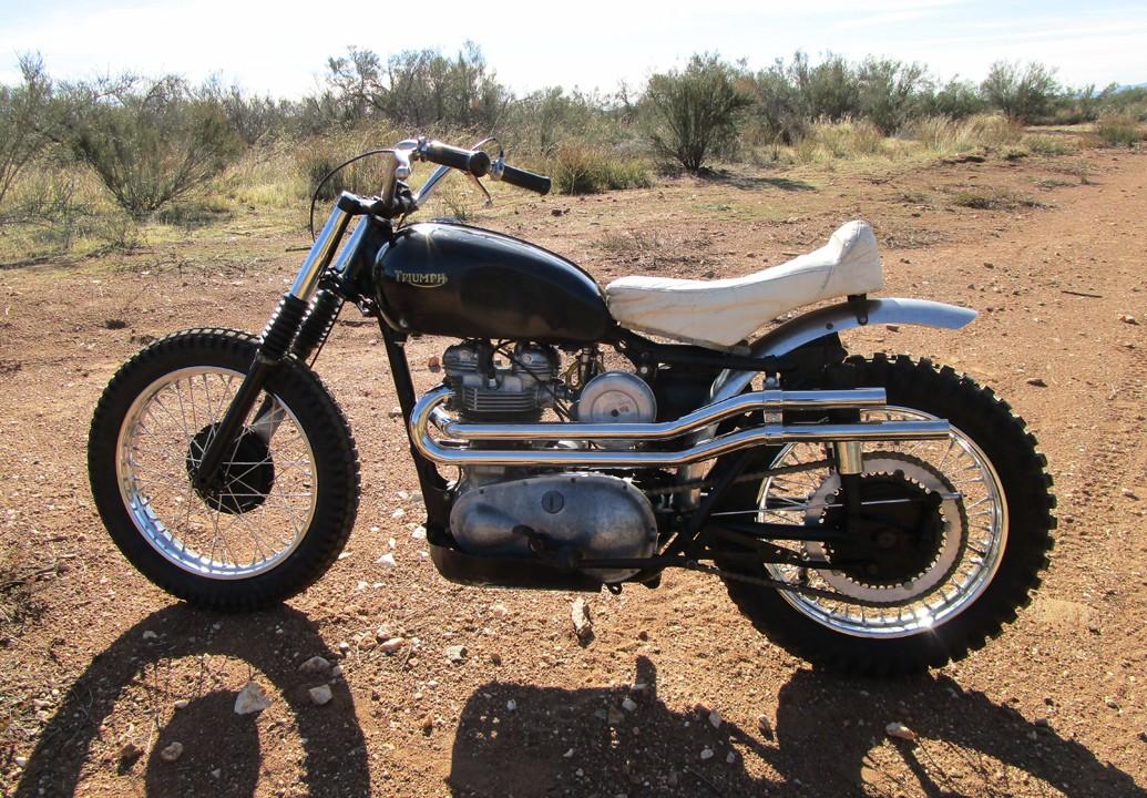 1957 Triumph T110 Desert Sled