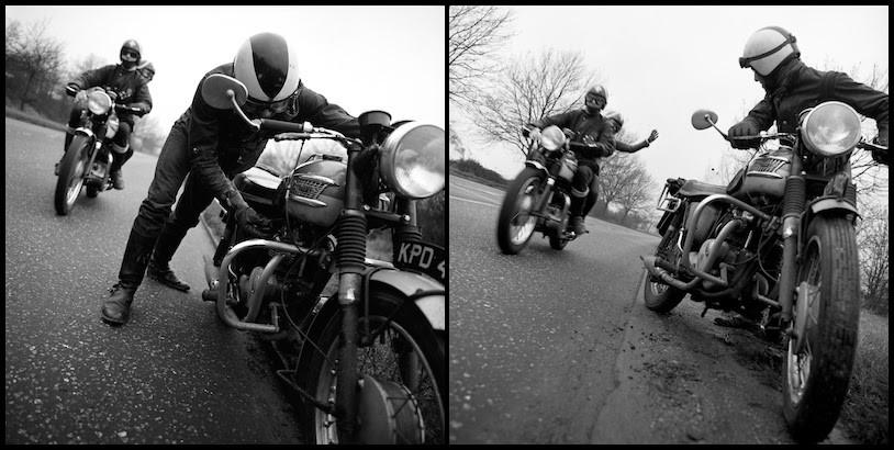 Advert for Triumph motorbikes.