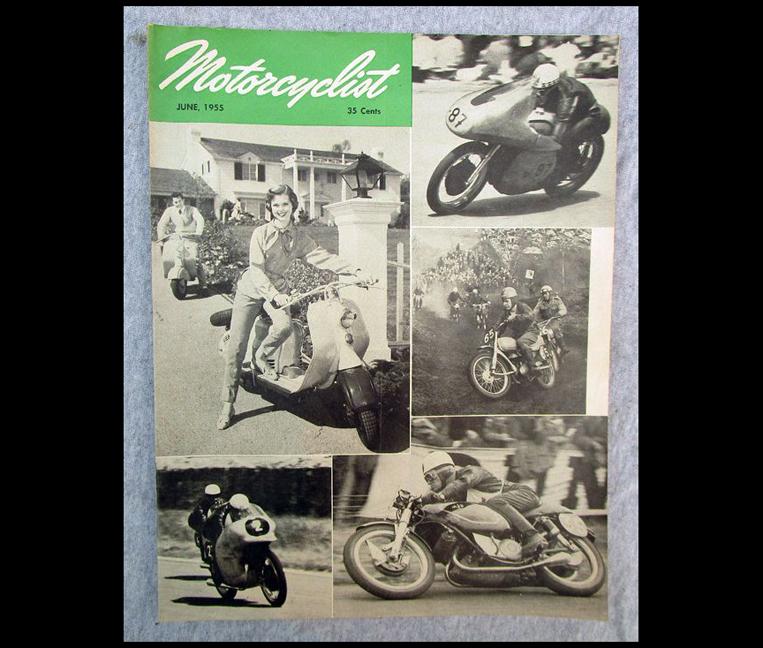 1957 MOTORCYCLIST MOTORCYCLE MAGAZINE/BOOK BSA NORTON DUCATI MAICO LAMBRETTA - LITERATURE