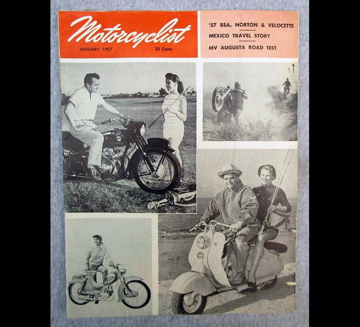 1957 MOTORCYCLIST MOTORCYCLE MAGAZINE/BOOK BSA NORTON VELOCETTE MV AUGUSTA 175 - LITERATURE